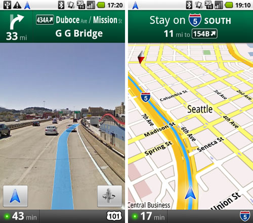 Android 2.0 için Google Maps Navigation
