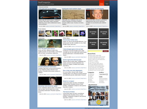 Bedava Premium WordPress Tema - Small Magazine