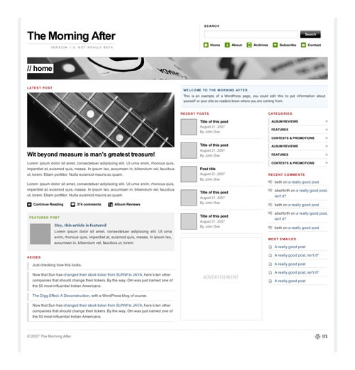Bedava Premium WordPress Tema - The Morning After