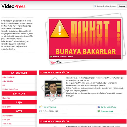 Wordpress VideoPress Video Teması